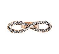 Anéis Cristal Pedaço de Ouro Rose Pedaço de Ouro Rose Mulheres