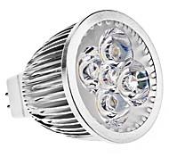 5W GU5.3(MR16) Focos LED MR16 5 LED de Alta Potencia 390 lm Blanco Cálido DC 12 / AC 12 V