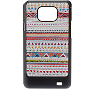 Driehoek Grain Pattern Hard Case voor Samsung Galaxy S2 I9100