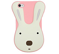 Silicon Cartoon Rabbit Pattern Protective Case for iPhone 4/4S