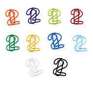 """2"" Forma Metal Paper Clips 10PCS (cor aleatória)"
