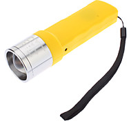 JB-1080 Dynamo 3-Mode Cree XP-E Q5 Zoom LED Flashlight (240LM, jaune)