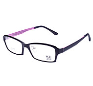 Unisex Transparent Lens Rectangle Eyeglasses(Random Color)