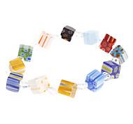 Cube Coloured Glaze Bracelet