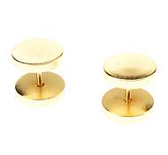 10 mm Pendientes de acero inoxidable de la Ronda