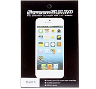 2X Clear LCD Screen Protector Film Set de ropa de limpieza para el iPod touch 5