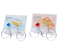 Bicycle Style Metal Photo Frame (Random Color)
