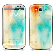 Pigment Pattern Front and Back Protector Stickers for Samsung Galaxy S3 I9300