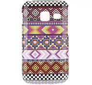 Grain Woven IMD caso duro para Samsung Galaxy Y Duos S6102