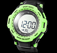 Unisex Heart Rate Monitor Rubber Digital Automatic Wrist Watch with Chest Band (Assorted Colors)