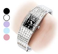 Stylish Women's Steel Analog Quartz Bracelet Watch (Assorted Colors)