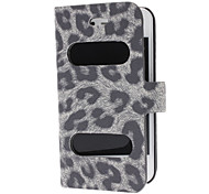 Leopard Print Full Body Case with Double Holes in The Front and Magnetic Snap for iPhone 4/4S (Assorted Colors)