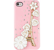 Romantic Jewelry Case Tower Flower pour iPhone 4/4S