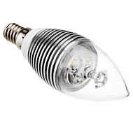 E14 3W 240LM 3500K Warm Blanco Bulb Candle Led (110-220V)