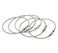 Outdoor-Multi-Funktions-Edelstahl Seil Schlüsselanhänger Ring - Silber (5 Stk.)