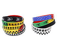 5 Pack Cartoon Pattern Colorful Rubber Bracelet (Random Color)