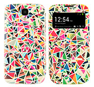 Colorful Triangle Pattern with Window Case for Samsung S4 I9500
