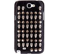 Punk Стиль Клинч Болт Прохладный Череп и пули Дизайн искусственная кожа Жесткий чехол для Samsung Galaxy Note N7100 2
