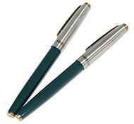 Metal Cap Extra-fine Fountain Pen (Green)