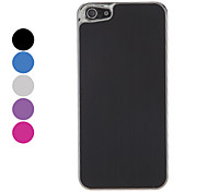 Simple Designed Solid Color Silver Plated Brushed Aluminum Hard Case for iPhone 5 (Assorted Colors)