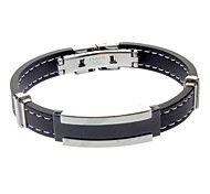 Negative Ion Silicone Hypoallergenic Titanium Bracelet For Men