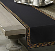 Classic Golden Printed Table Runner