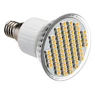 E14 4W 60x3528SMD 210-240LM 3000-3500K calientan la luz blanca LED del bulbo del punto (85-265V)