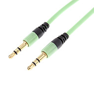 3.5mm Male to Male Audio Connection Cable Flat Type Green (1.2m)