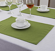 Vert Lin Rectangulaire Sets de table