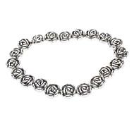 Argent tibétain bracelet de Rose