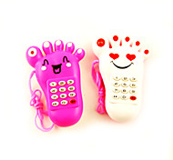 Electric Light-up Musical Mobile Phone Foot Shaped(Assorted Colors)