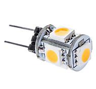 LED a pannocchia 5 SMD 5050 T G4 1W 75 LM Bianco caldo DC 12 V