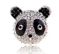 Lureme®Full Crystals Panda Ring