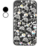 Skull zircone color posteriore per il iPhone 4/4S (colori assortiti)