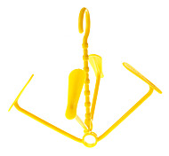 Yellow Plastic Moveable Shoes Hanger