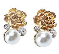 Rose Pearl Earring