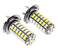 H7 5W 96x3528SMD LED White Light Car Fog light (DC 12-24V, 1-Pair)