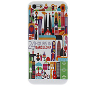 Barcelona Scene Pattern IMD Technology Hard Case for iPhone 5/5S
