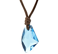 Women's Pendant Necklaces Crystal Crystal Fabric Fashion White Purple Blue Pink Jewelry Daily 1pc