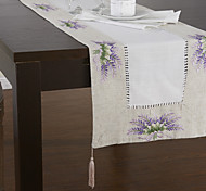 Purple Linen Rectangular Table Runners