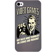 Video Games Pattern IMD Technology Hard Case for iPhone 4/4S