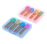 4pcs Match Shaped Colorful Eraser (Random Color)