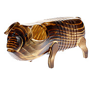 Wooden Brown Pig Toy