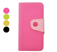 Double Color Inside and Outside PU Leather Full Body Case for iPhone 5/5S