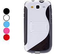S Shape Hard Case met standaard voor Samsung Galaxy S3 I9300 (verschillende kleuren)