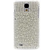 Sólido Blanco Rhinestone adornó la caja dura para Samsung i9500 Galaxy S4