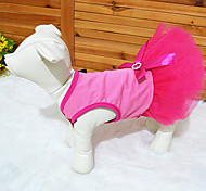 Cat / Dog Dress Pink Dog Clothes Spring/Fall Floral / Botanical
