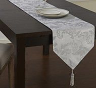 Traditional Silver Floral Table Runners