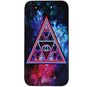 Triangle in abstrakte Malerei beklebte PC Hard Case für iPhone 4/4S