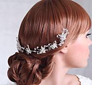 Lussuosi lega Fiori con copricapo da sposa strass da sposa